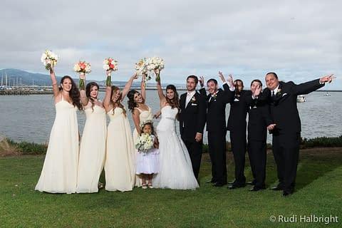 Wedding party portrait - Half Moon Bay Wedding - Mavericks Half Moon Bay