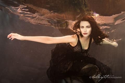Underwater portrait of model Iryna Korolenko