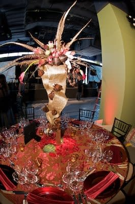 Wedding table centerpiece by Leighsa Montrose, owner of award-winning Branch Out Event Design