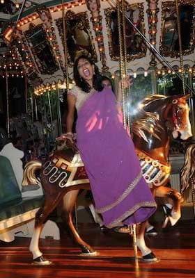 Member of the Wedding Party - Riding the Carousel - Gilroy Gardens Wedding