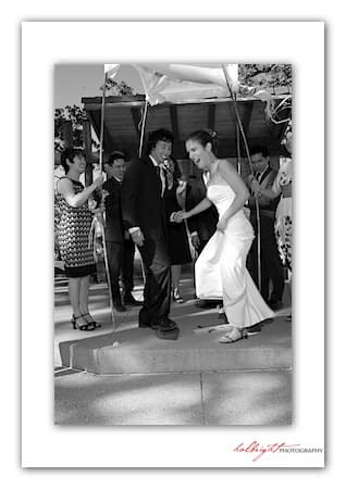 Groom Breaks the Glass - Camp Arroyo Wedding